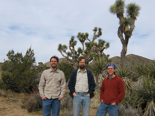 In the field with my dissertation advisor, Olle Pellmyr (centre) and collaborator Will Godsoe. (Flickr: jby)